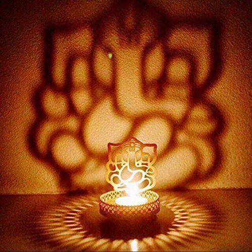 Shadow Ganesh Ji Tea Light Holder By Mh For The Home