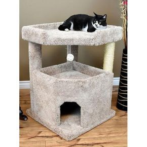 One Of The Largest Cat Condos On Pet Market By Cozycatfurniture Com Cat Condo Cat Mansion Cat Furniture Cat perches for large cats