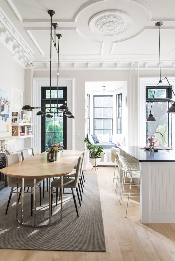 Tour a Brooklyn Brownstone With a London Feel -- Wendy Goodman explores a Prospect Heights townhouse renovated with a London touch.
