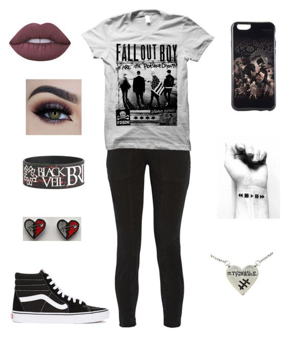 """""""Untitled #165"""" by landers96 ❤ liked on Polyvore featuring J Brand, Vans and Lime Crime"""