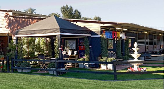Tents That Look Like Barns : Show barn tent and stall drapes from http tacktrunks