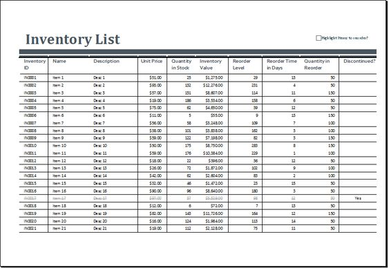 grocery inventory list template at http\/\/wwwxltemplatesorg - home inventory template