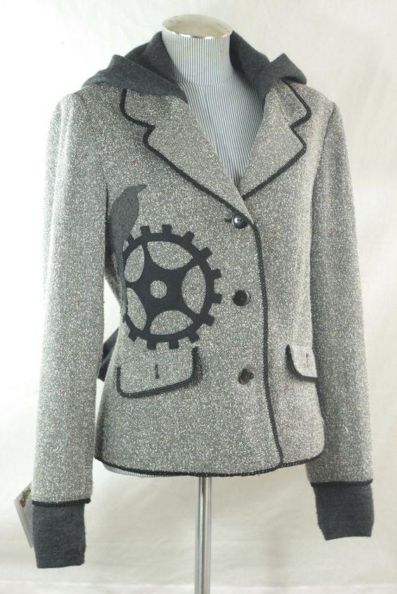 Bella Sisters upcycled wool blazer-hoodies