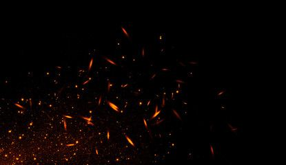 Full Hd Fire Sparks Png Sparkle Png Photo Overlays Fire Image