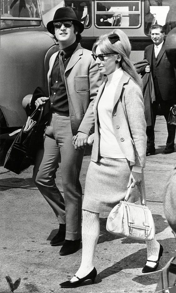 John Lennon With First Wife Cynthia Lennon At The Cannes Film Festival, 1965