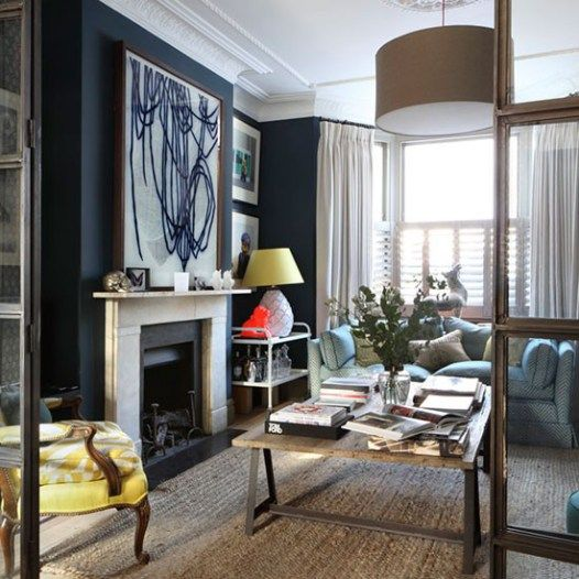 Victorian Living Room: Victorian Living Room, Victorian And Navy Walls On Pinterest
