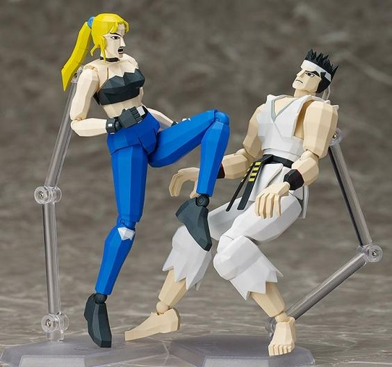 Virtua Fighter - Akira vs Sarah Briant - Figures