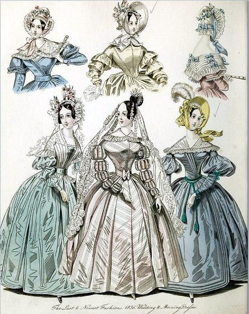 The World of Fashion and Continental Feuilletons 1836 Plate 23 by CharmaineZoe, via Flickr