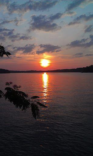 The sunset in Hot Springs, Arkansas