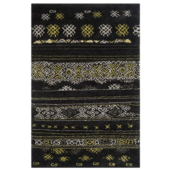 Shop Safavieh  TBS547A Tibetan Shag Black and Green Area Rug at ATG Stores. Browse our area rugs, all with free shipping and best price guaranteed.