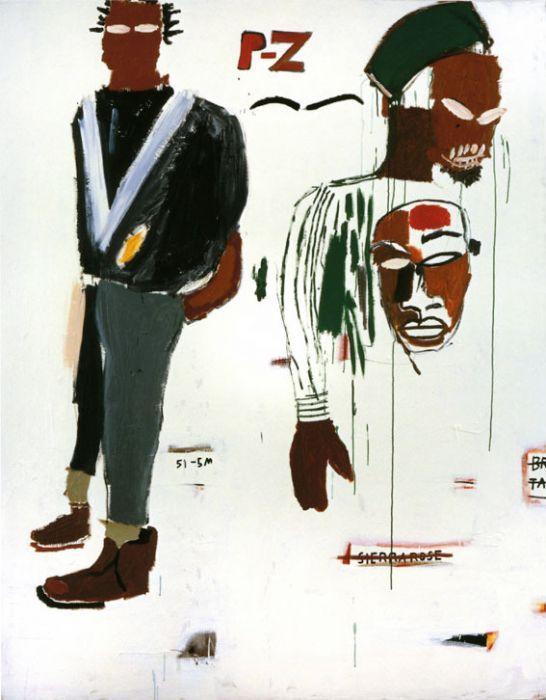 Jean-Michel Basquiat, P-Z, 1984, Acryl und Ölkreide auf Leinwand, 218,5 x 172,5 cm, Privatbesitz, Courtesy Galerie Bruno Bischofberger, Schwe...
