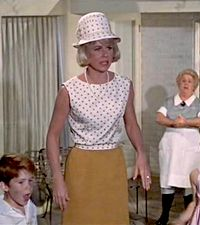 "my favorite outfit from ""The Thrill of it All"" love the polka dots sooooo much!!!:"