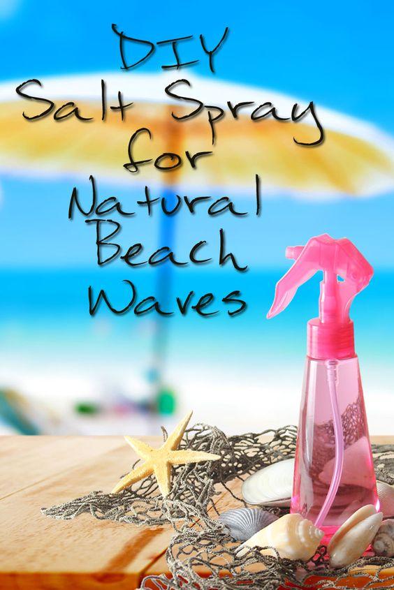 Enjoy beautiful, natural beach waves with this DIY salt spray!