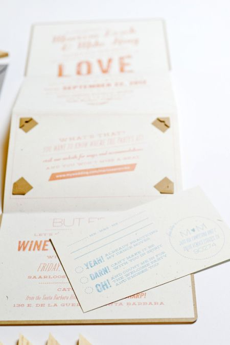 Marissa + Mike's Whimsical Silhouette Wedding Invitations - Oh So Beautiful Paper
