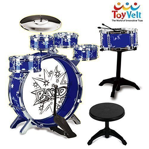 Jazz Drum Set Musical Educational Instrument Pretend Play Toy For