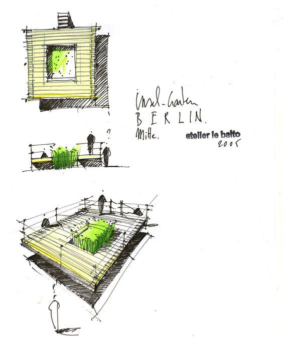 garden island architecture plans illustrations ideas