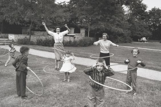 Hula hoops.....remember how hard it was to keep one going?