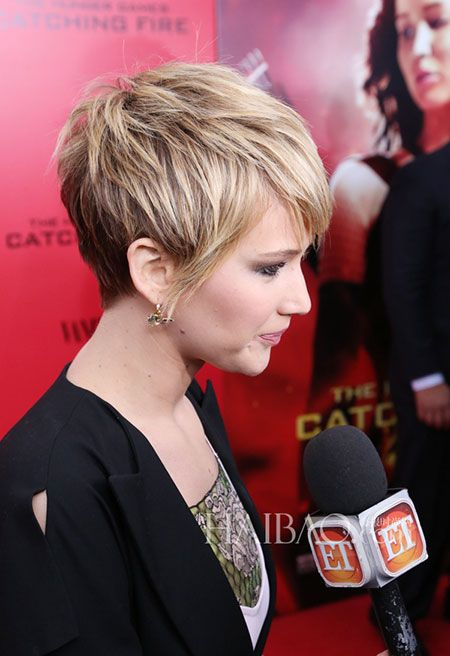 Promi frisuren frisuren and jennifer lawrence on pinterest