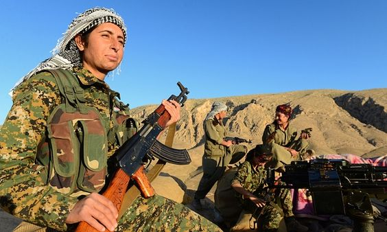 Yazidi women fighters occupy a strategic position only two kilometres from the Isis frontline