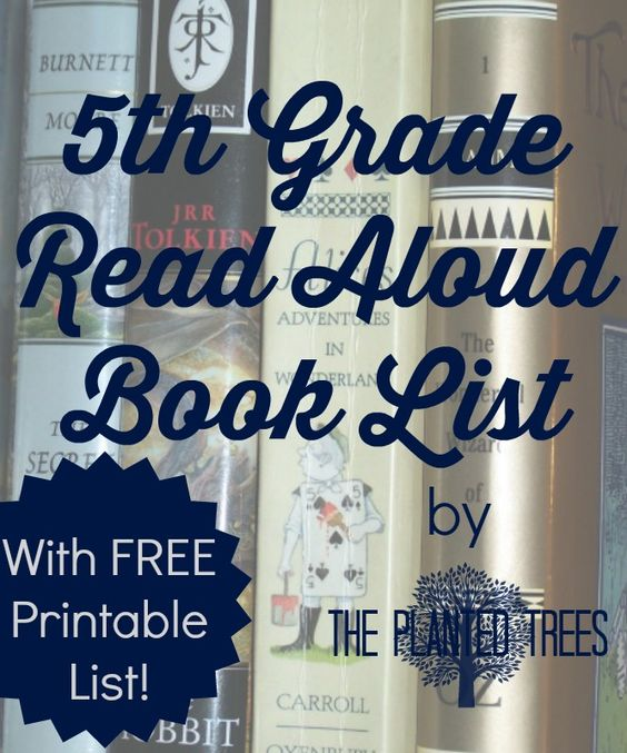 The Planted Trees: Fifth Grade Read Aloud List