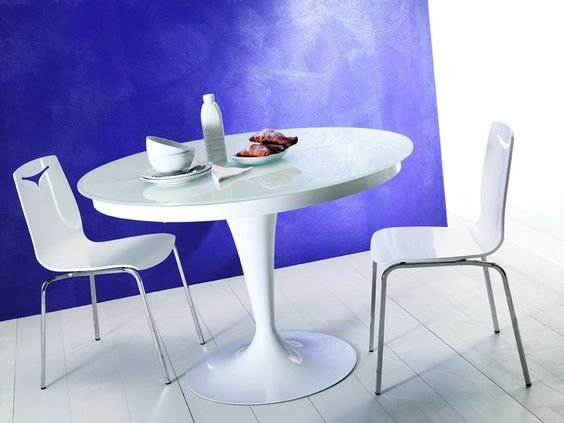 Mesa extensível de jantar oval ECLIPSE by Ozzio Design   design Studio Ozeta