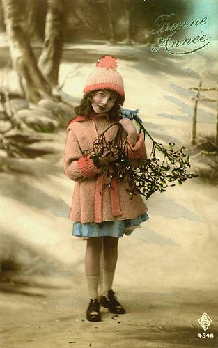 Little Winter Girl with Mistletoe   Flickr - Photo Sharing!