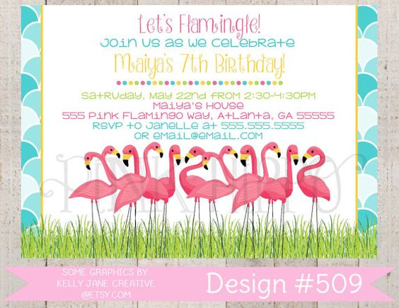 22 best Flamingo Birthday Invitations images – Flamingo Birthday Invitations