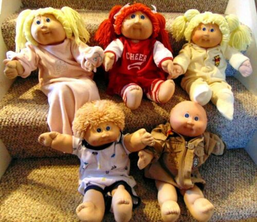Cabbage Patch Kids Lot Of 5 Vintage Dolls Clothing Girls Boys Tlc Free Shipping Ebay Cabbage Patch Kids Dolls Patch Kids Cabbage Patch Kids