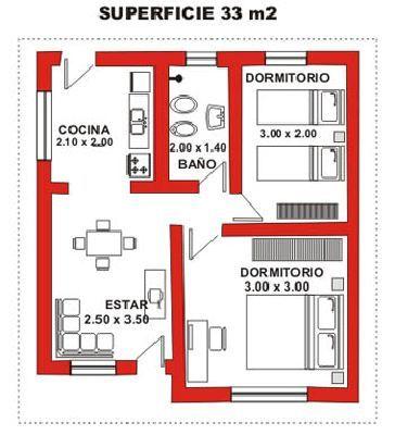 Planos casas 3 ambientes buscar con google proyectos - Como hacer un plano de una casa ...