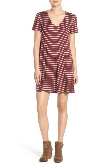 Lush Stripe T-Shirt Dress available at #Nordstrom: