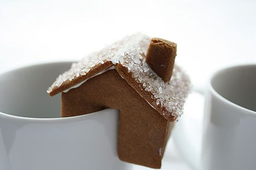 tiny gingerbread houses from not martha: