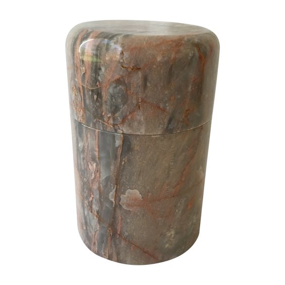 Marble Lidded Container on Chairish.com
