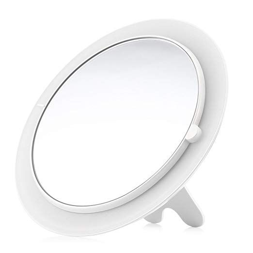 Dularf Cordless Lighted Makeup Mirror Rechargeable Led Wall Mounted Vanity Mirror Portable C Wall Mounted Vanity Makeup Mirror With Lights Magnification Mirror