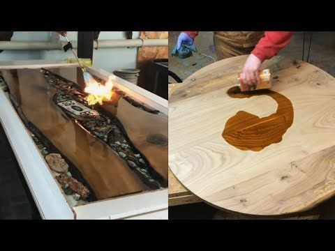 10 Awesome Making Epoxy Resin And Wood Woodworking Project Youtube Madera Y Resina Mesa De Resina Muebles Hierro Y Madera