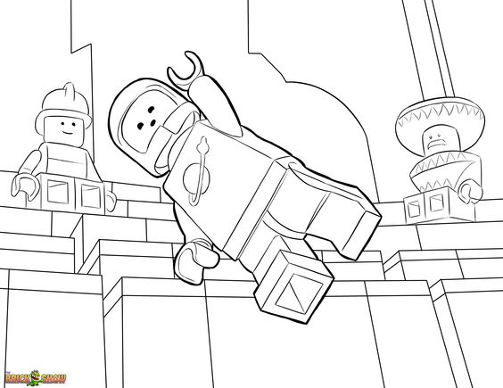 Lego Movie Coloring Pages Pdf : The lego movie coloring page benny printable color