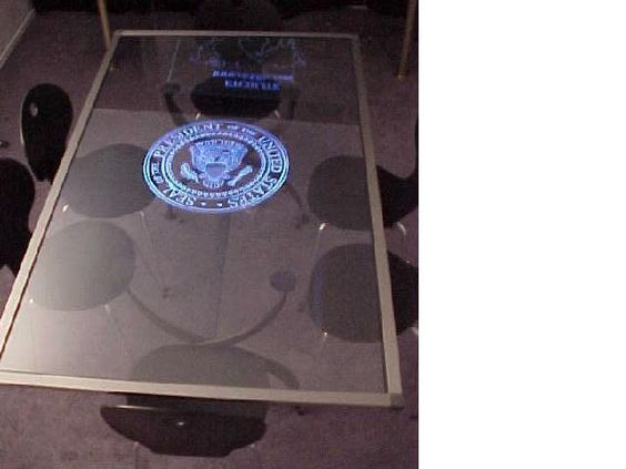 How about a LEED lit table for the President?
