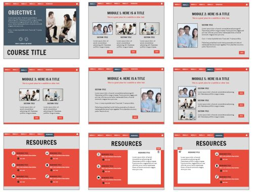 Articulate Rapid E-Learning Blog - layout options of free - sample education power point templates