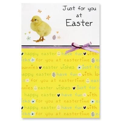 Just for you at Easter -     Cost of card: £1.49     http://birthdaycards.charitygreetings.com/personalised-charity-greetings-cards-easter-cards-uk/charity-easter-cards/12782-easter-card