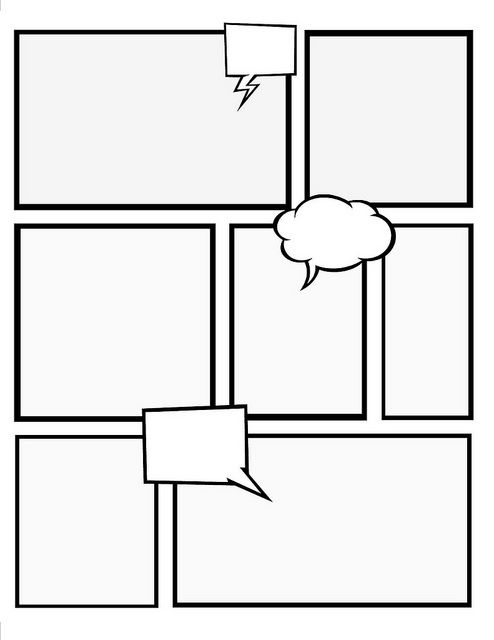 Make your own comic book with these templates crafts for Blank book template for kids