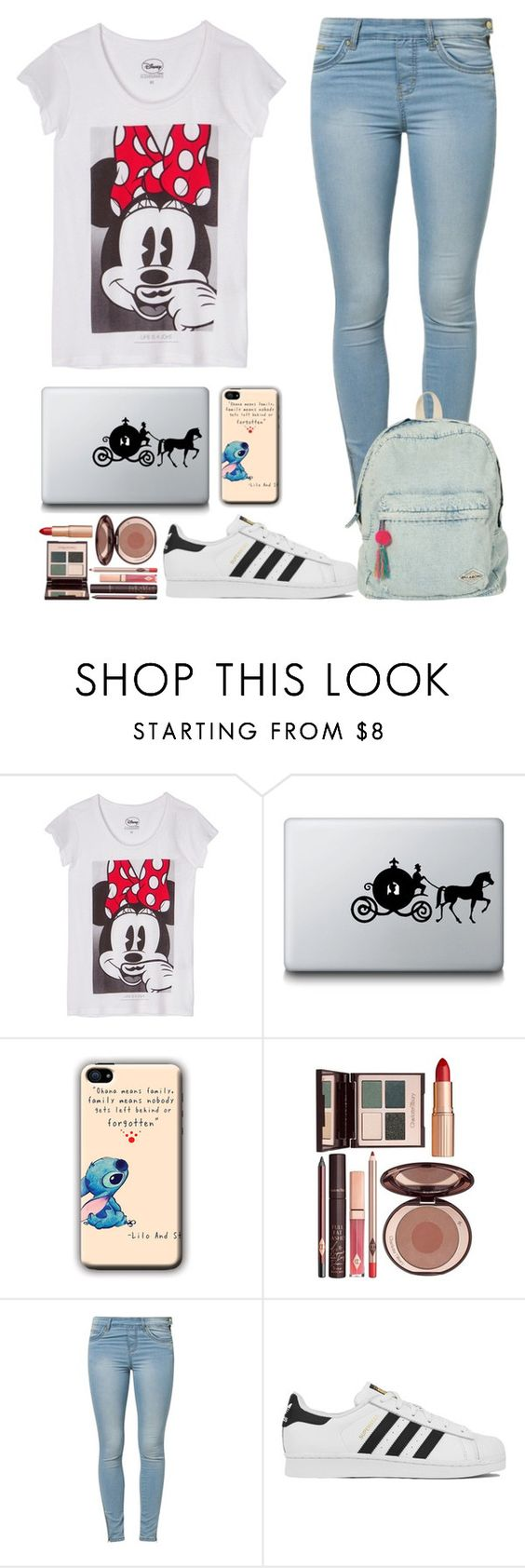 """""""Disney Mode"""" by caro3302 ❤ liked on Polyvore featuring ElevenParis, Disney, Charlotte Tilbury, Jane Norman, adidas, Billabong, women's clothing, women, female and woman"""
