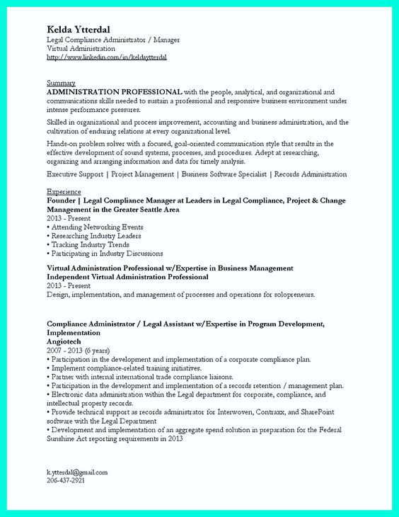 cool Make the Most Magnificent Business Manager Resume for - records management resume