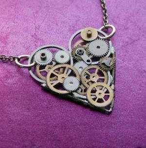 Clockwork Heart Necklace