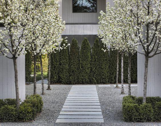 trittsteine kies ideen für kunstsvolle landschaft im garten | kies, Hause und Garten