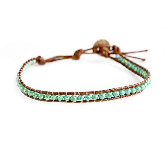 Green Single Wrap Beaded Bracelet – Mulberry & Grand
