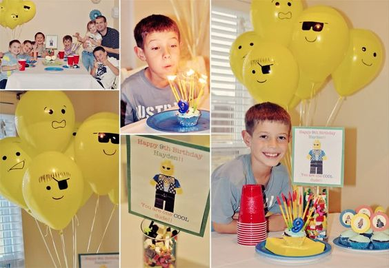 Balloon LEGO heads - perfect!