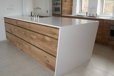 Cuisine and design on pinterest - Cuisine chene massif moderne ...