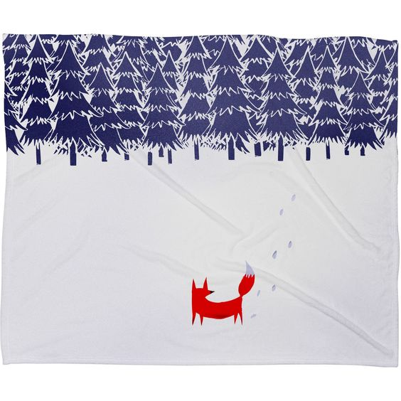 Robert Farkas Alone In The Forest Plush Fleece Throw Blanket