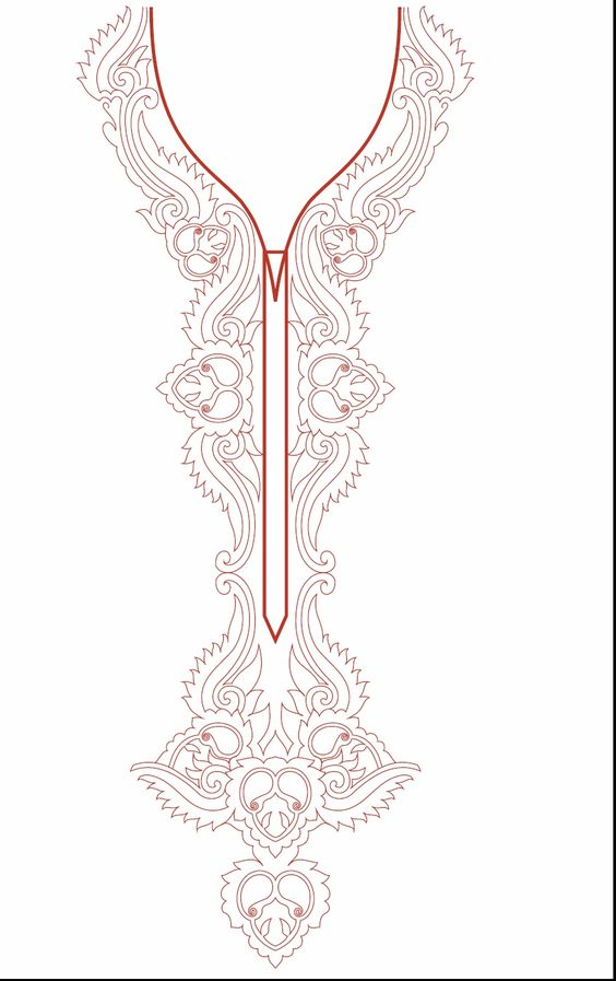 Neck Line Embroidery Design Development: