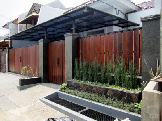 model pagar kayu rumah minimalis home decor pinterest