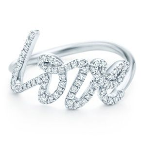 Tiffany & Co. Paloma Picasso® Love ring $2700 - 18k white gold with round brilliant diamonds